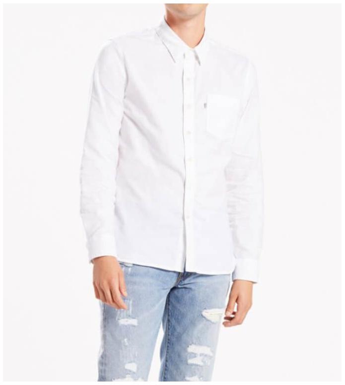 Levis Levis Shirt Sunset 1 Pocket white
