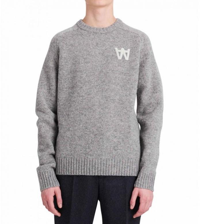 Wood Wood Wood Wood Sweater Kevin grey light melange