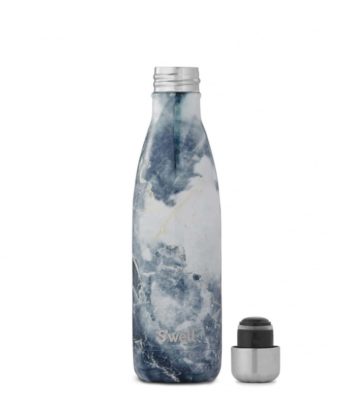 Swell Swell Water Bottle MD blue elements granite
