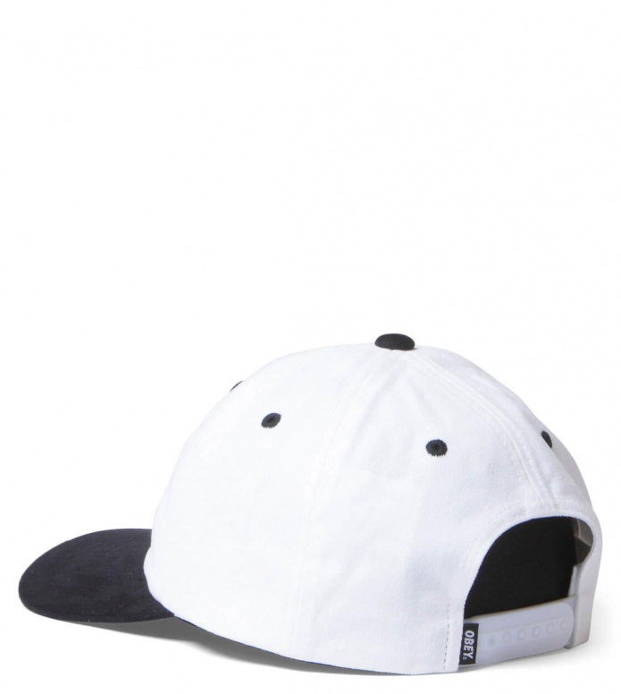 Obey Obey 6 Panel Brooks Snapback white off