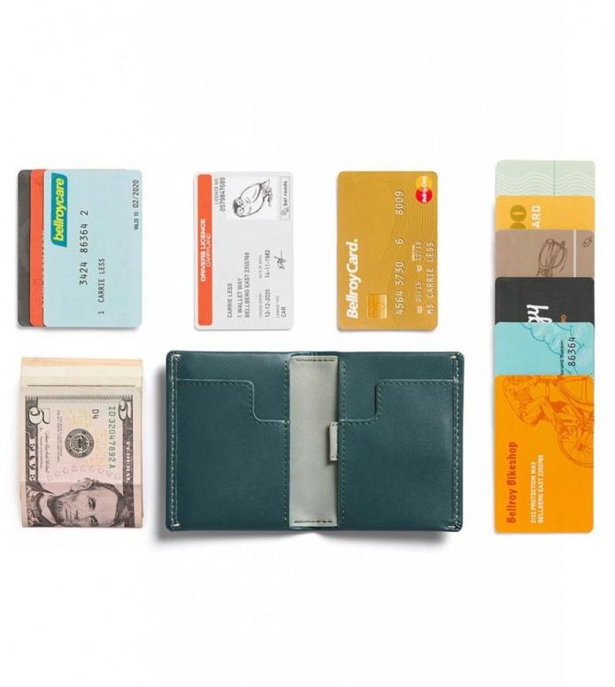Bellroy Bellroy Wallet Slim Sleeve green teal
