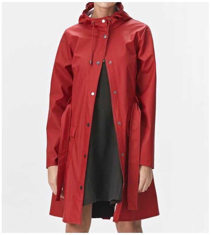 Rains Rains Rainjacket Curve red scarlet