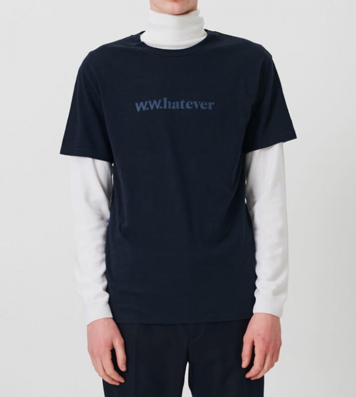 Wood Wood Wood Wood T-Shirt Perry blue navy