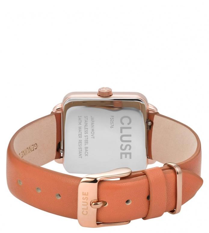 Cluse Cluse Watch La Tetragone orange butterscotch/rose gold rose gold