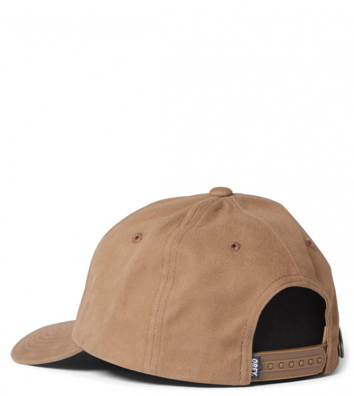Obey Obey 6 Panel Cutty Snapback brown wheat