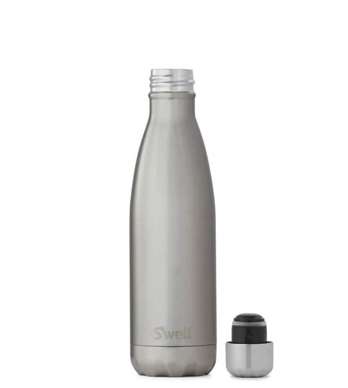 Swell Swell Water Bottle MD silver shimmer lining