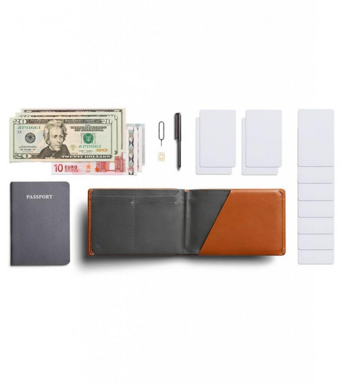 Bellroy Bellroy Wallet Travel RFID brown caramel