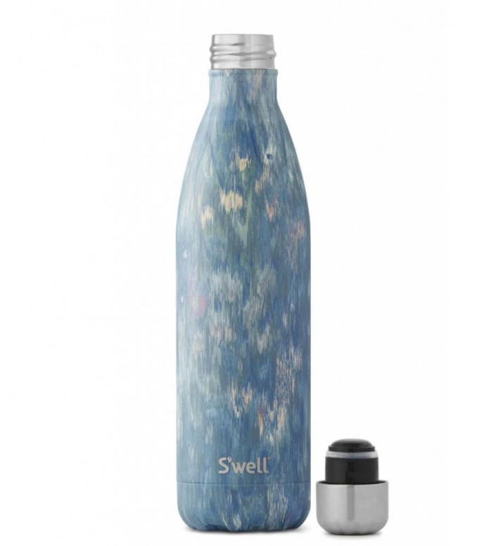 Swell Swell Water Bottle LG blue painted poppy