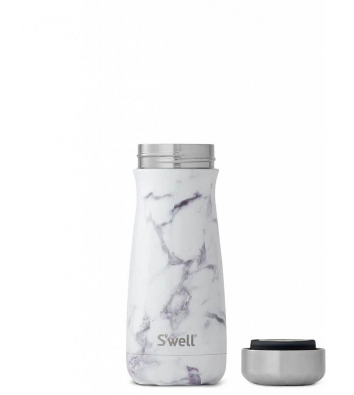 Swell Swell Bottle Traveler MD grey elements white marble