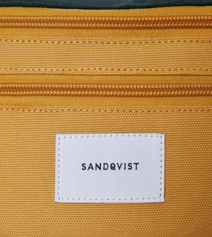 Sandqvist Sandqvist Bag Aste multi honey yellow/dark green