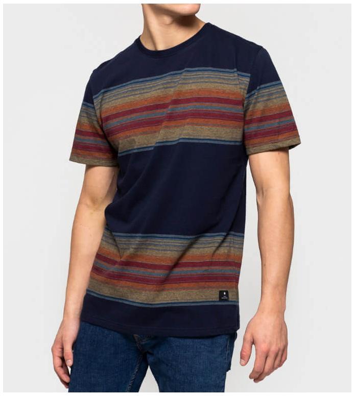 Revolution (RVLT) Revolution T-Shirt 1146 Striped blue navy