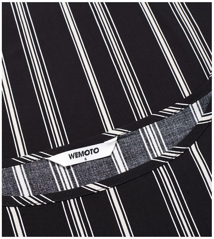 Wemoto Wemoto W T-Shirt Melvin Printed black-off white