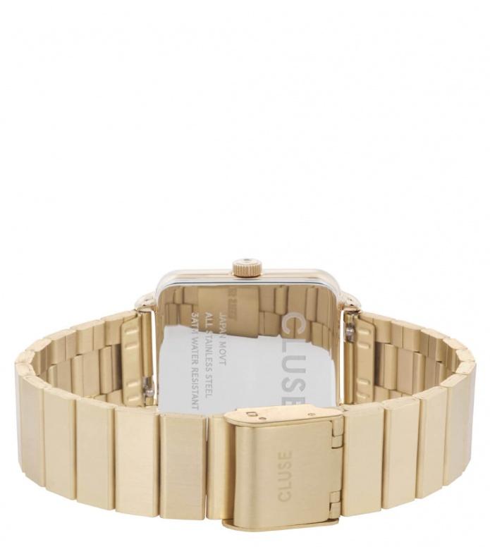 Cluse Cluse Watch La Tetragone 1-Link gold/white
