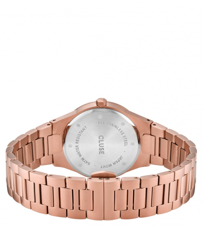 Cluse Cluse Watch Vigoureux 33 H-Link rose gold/snow white rose gold