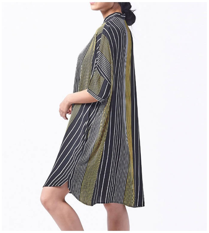 Wemoto Wemoto W Dress Hume Printed black-yellow