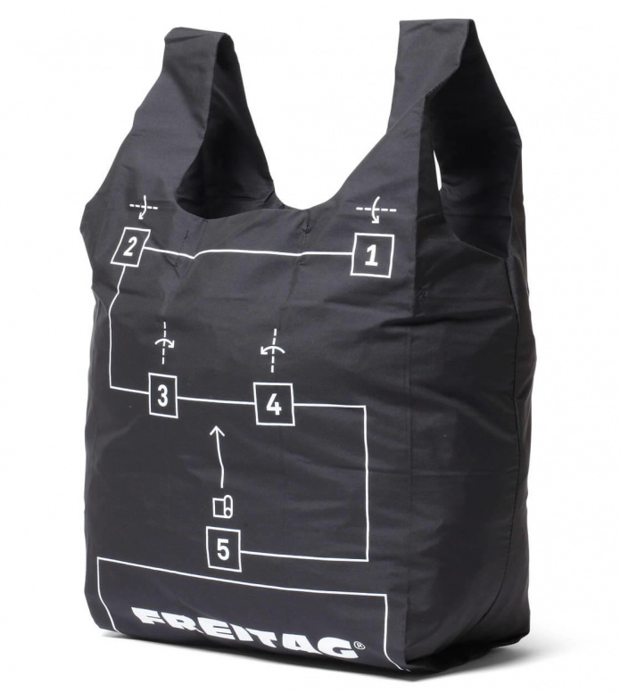 Freitag Freitag ToP Shopping Bag Jack green/white