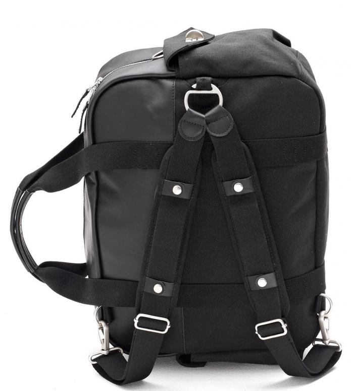 Qwstion Qwstion Bag Overnighter black leather canvas