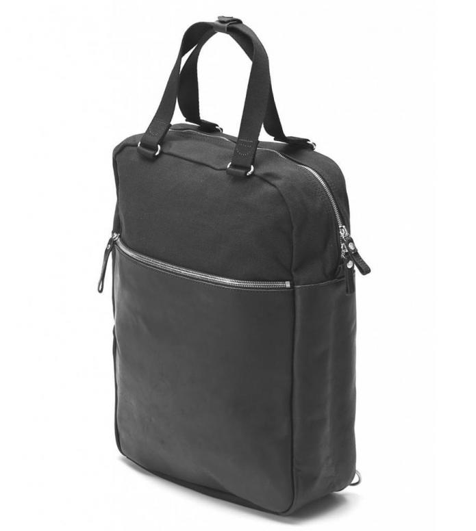Qwstion Qwstion Bag Simple Pack black leather canvas