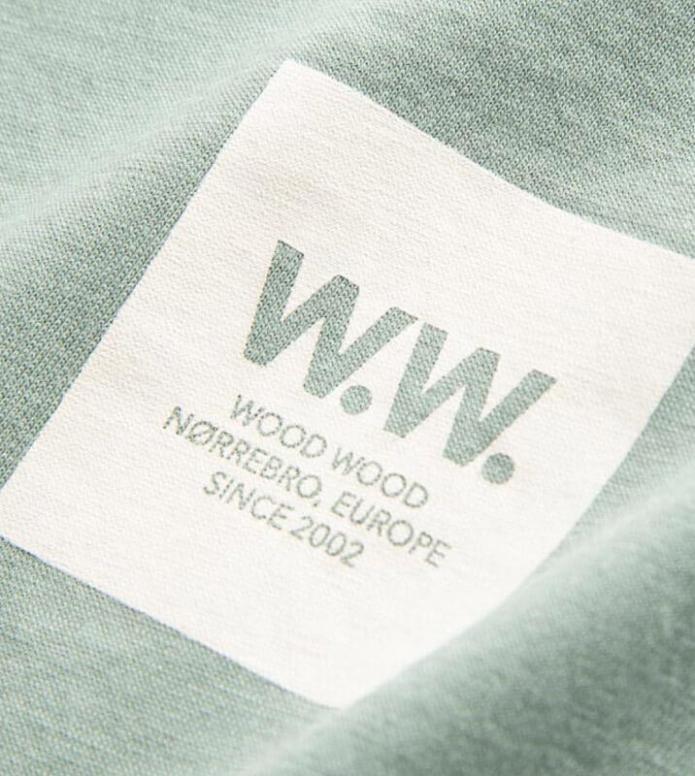 Wood Wood Wood Wood W T-Shirt Eden green mint