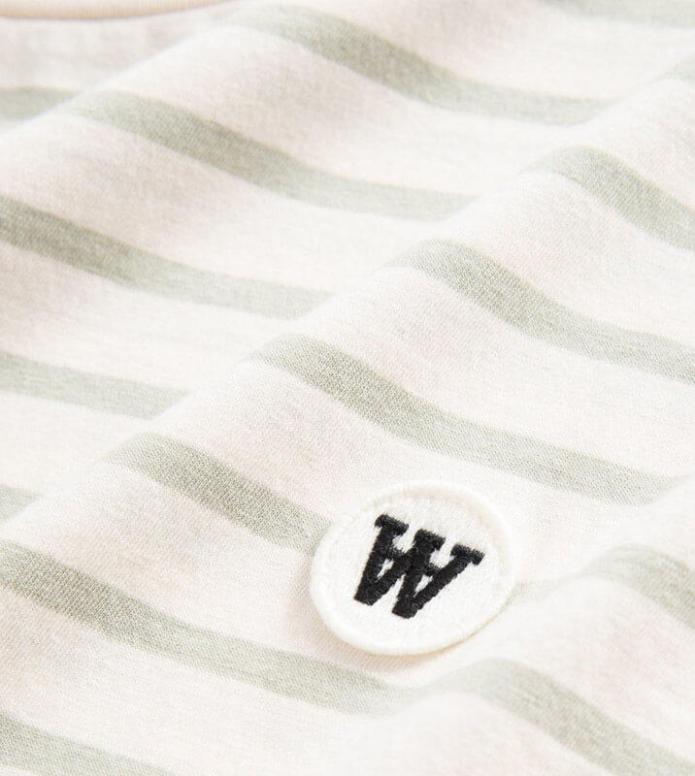 Wood Wood Wood Wood T-Shirt Ace white off/mint stripes