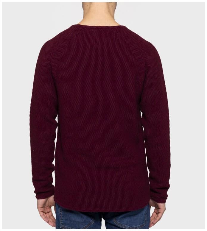Revolution (RVLT) Revolution Knit Pullover 6261 red bordeaux