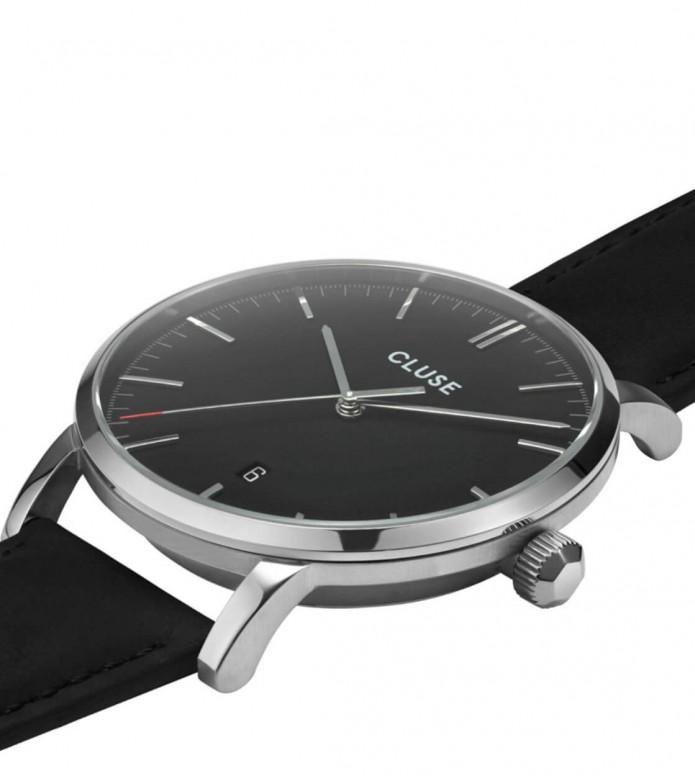 Cluse Cluse Watch Aravis Leather black/black silver