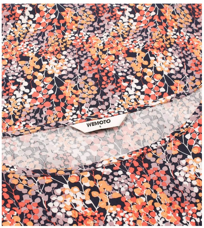 Wemoto Wemoto W Top Melvin Printed orange navy blue-red