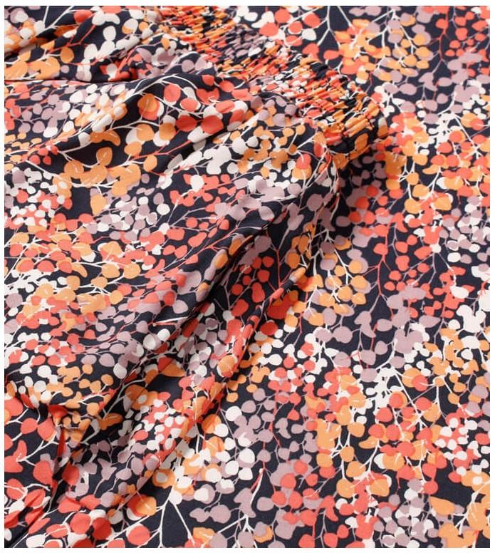 Wemoto Wemoto W Skirt Rations Printed orange navy blue-red