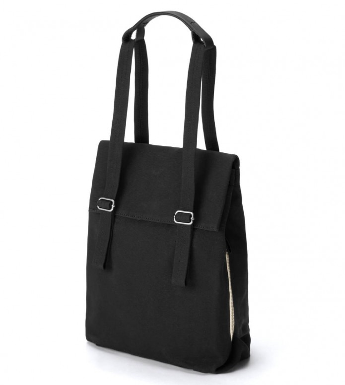 Qwstion Qwstion Bag Flap Tote Small black all