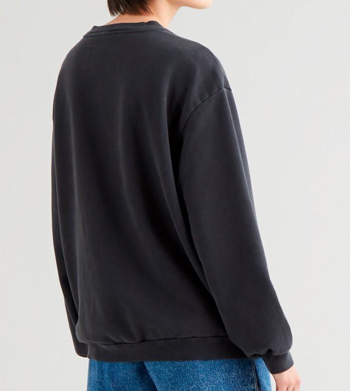 Levis Levis W Sweater Melrose Slouchy Crew black soft caviar