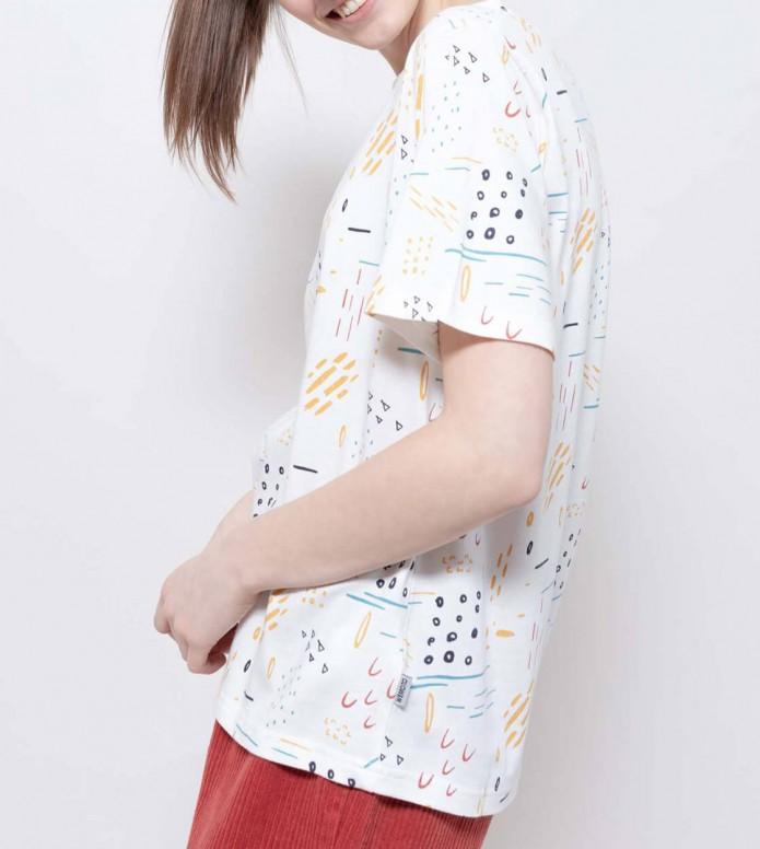 Wemoto Wemoto W T-Shirt Bleu Printed white off