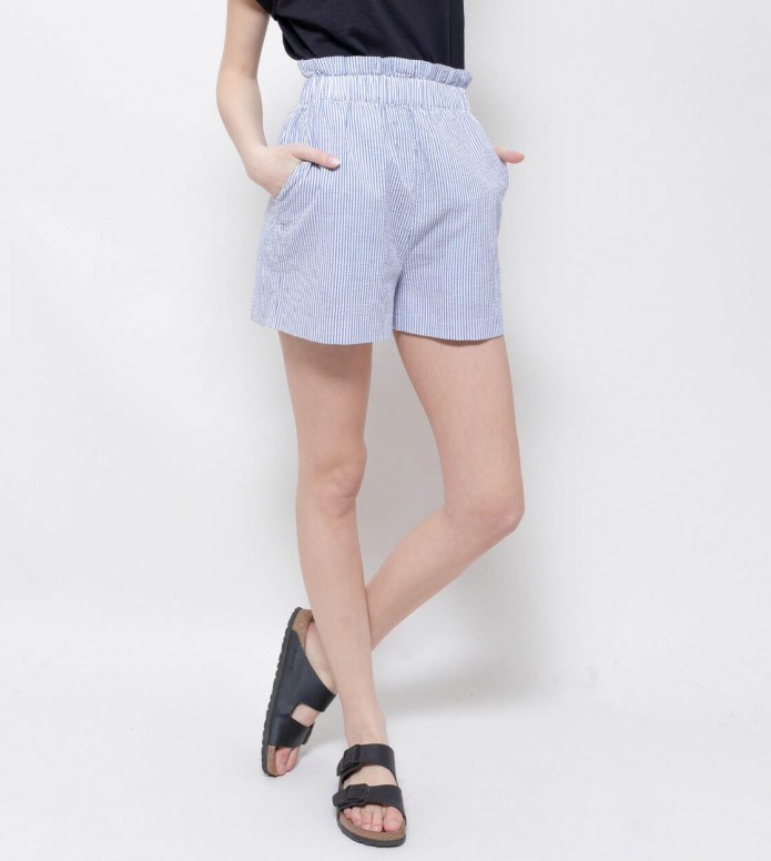 Wemoto Wemoto W Shorts Ash blue navy/white