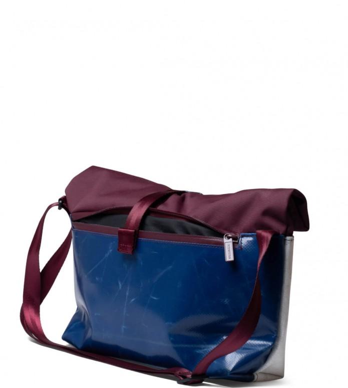 Freitag Freitag ToP Bag Rollin red marsala/blue/white