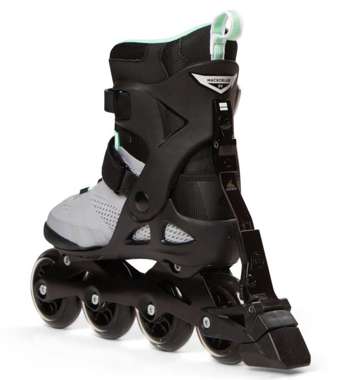 Rollerblade Rollerblade W Macroblade ABT 80 black/grey/gree neo mint