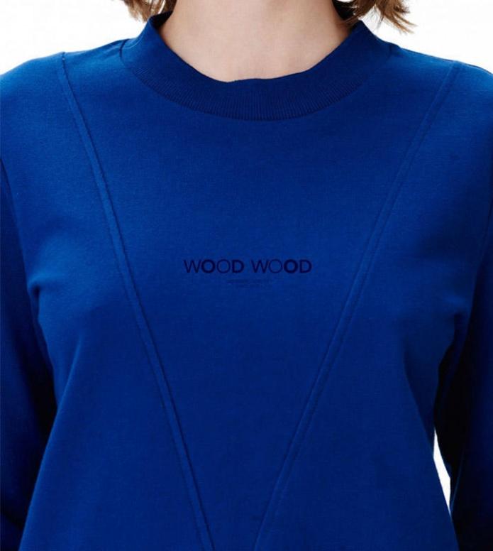 Wood Wood Wood Wood W Pullover Mary-Ann blue estate