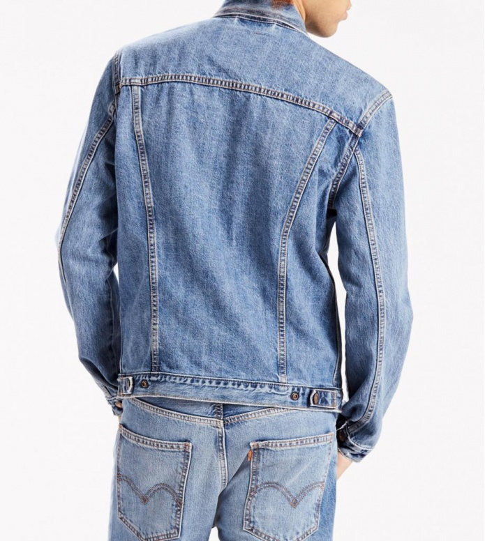 Levis Levis Denimjacket Trucker Orange Tab blue