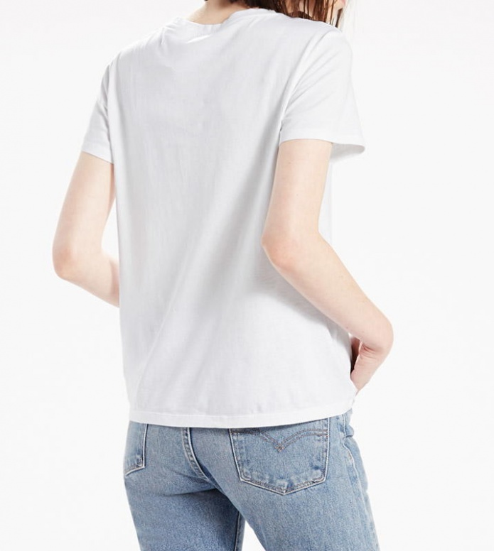 Levis Levis W T-Shirt The Perfect Pocket white