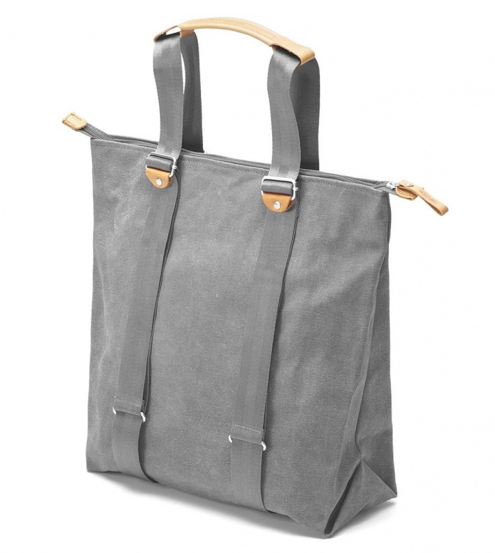 Qwstion Qwstion Bag Simple Zipshopper washed grey