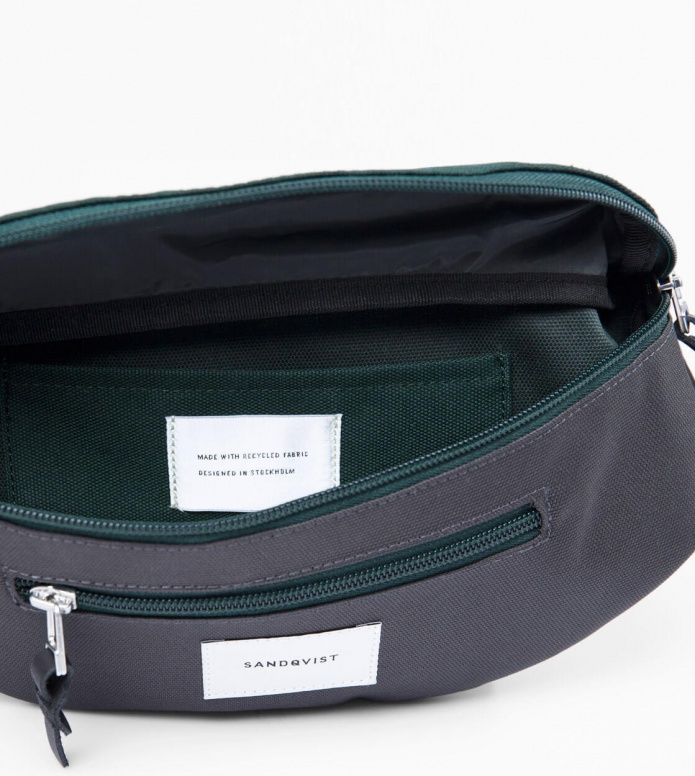 Sandqvist Sandqvist Bag Aste green deep multi/dark grey