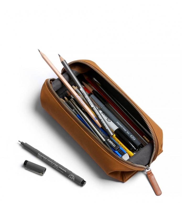 Bellroy Bellroy Pencil Case Plus Leather brown tan