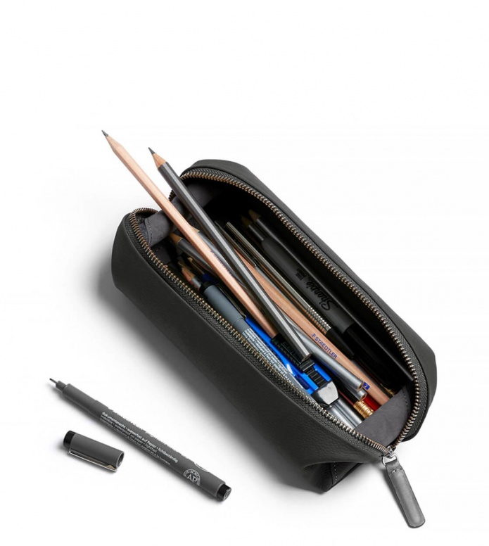 Bellroy Bellroy Pencil Case Plus Leather grey charcoal