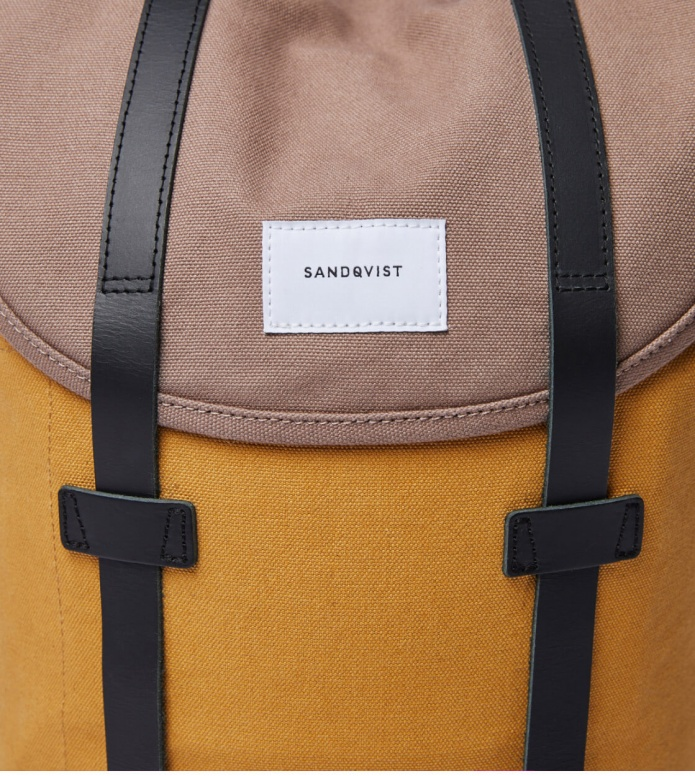 Sandqvist Sandqvist Backpack Stig multi earth brown/honey yellow