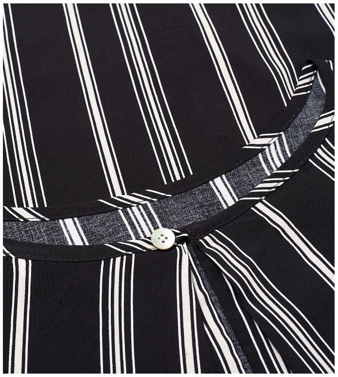 Wemoto Wemoto W Dress Byron Printed black off-white