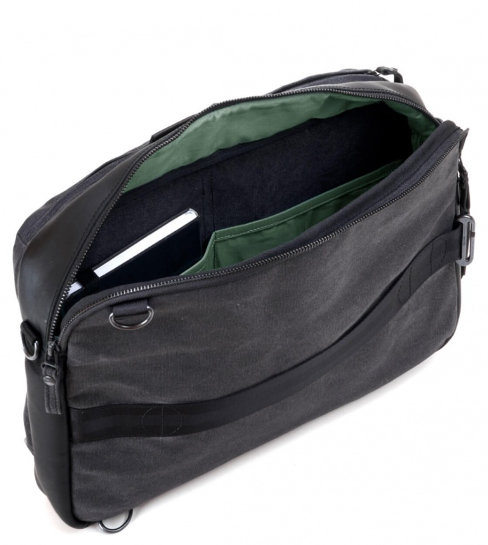 Qwstion Qwstion Bag Simple Office graphite leather