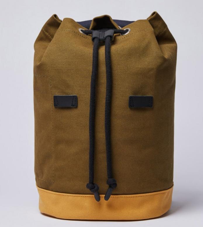 Sandqvist Sandqvist Backpack Stig multi navy/dark olive/honey yellow