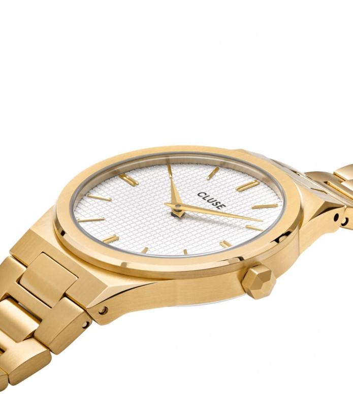 Cluse Cluse Watch Vigoureux 33 H-Link gold/snow white gold