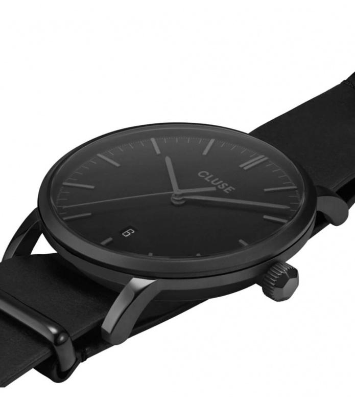 Cluse Cluse Watch Aravis Nato Leather black/black black