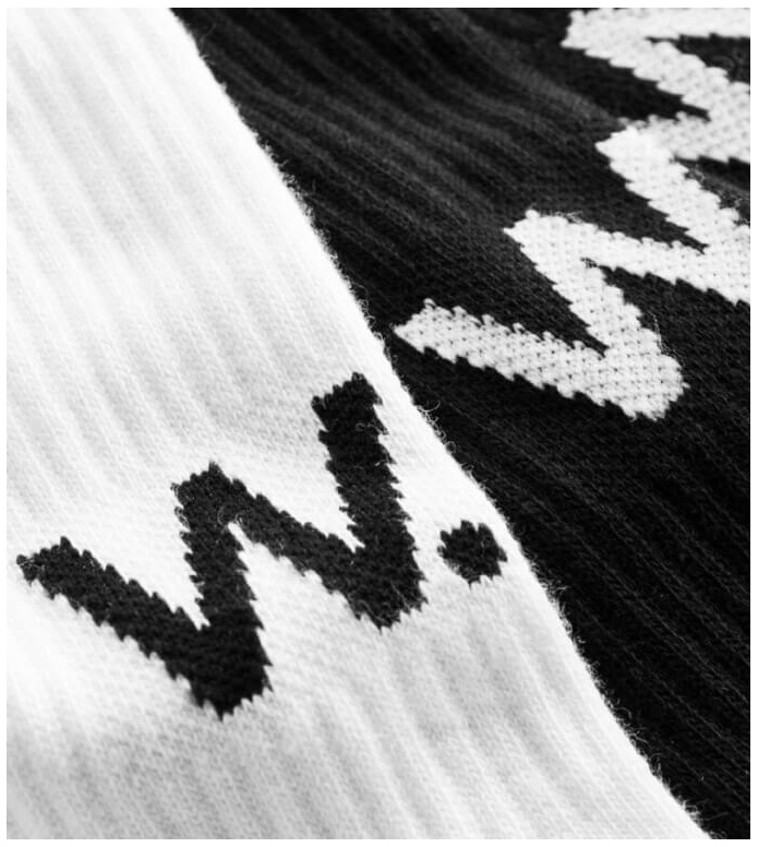 Wood Wood Wood Wood Socks Gail 2-Pack white/black