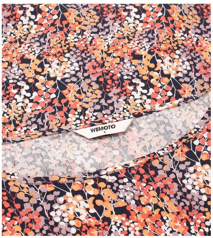 Wemoto Wemoto W Top Melvin Printed orange navy blue-red