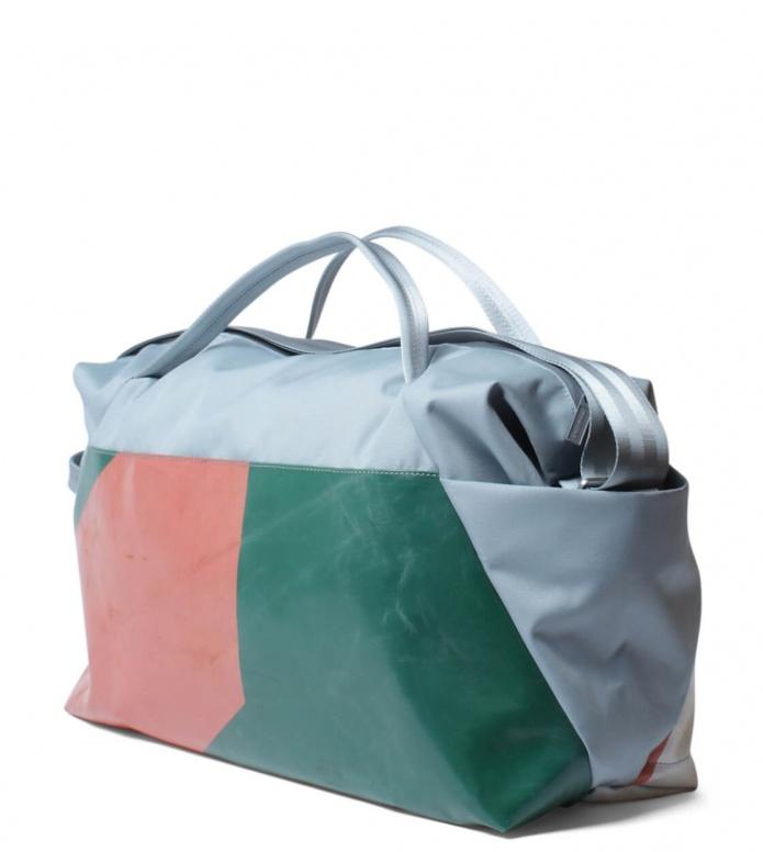 Freitag Freitag ToP Sportsbag Jimmy blue foggy/green/red/white